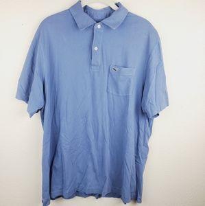 Vineyard Vines Prima Cotton Blue Polo Shirt